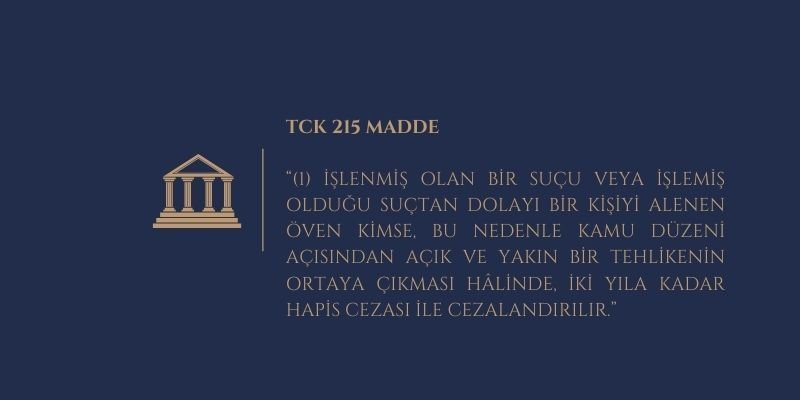 tck 215 cezasi